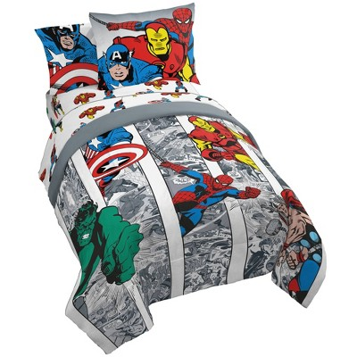Marvel Avengers Comic Cool Bed in a Bag