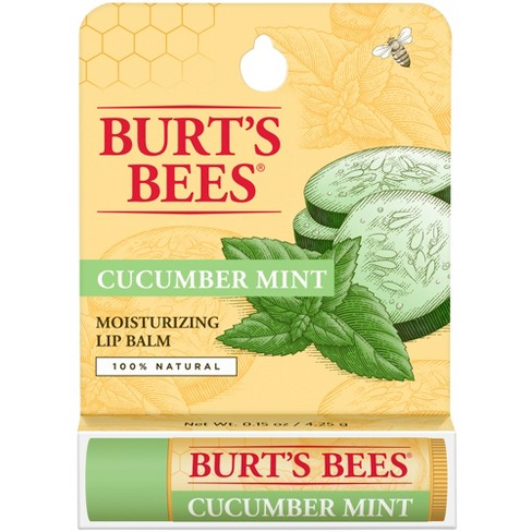 Burt's Bees 100% Natural Moisturizing Lip Balm - Cucumber Mint - .15oz - image 1 of 3