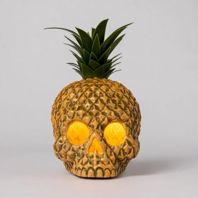 Light Up Pineapple Skull Halloween Decorative Prop - Hyde & EEK! Boutique™