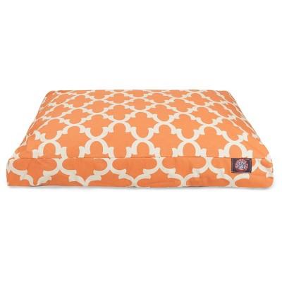 Majestic Pet Trellis Rectangle Dog Bed - Peach - Medium