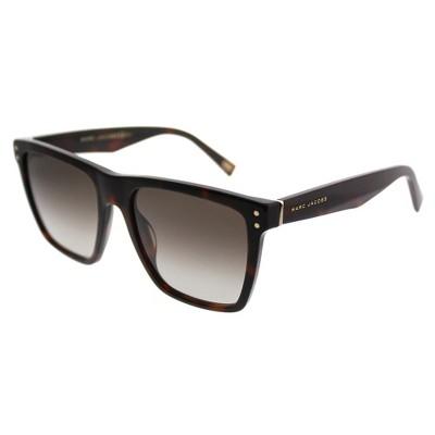 Marc Jacobs  ZY1 Unisex Rectangle Sunglasses Havana Medium 54mm