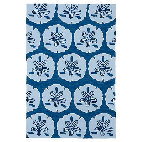Kaleen Rugs Matira Sand Dollar Indoor/Outdoor Area Rug Blue 2'x3' - image 1 of 3