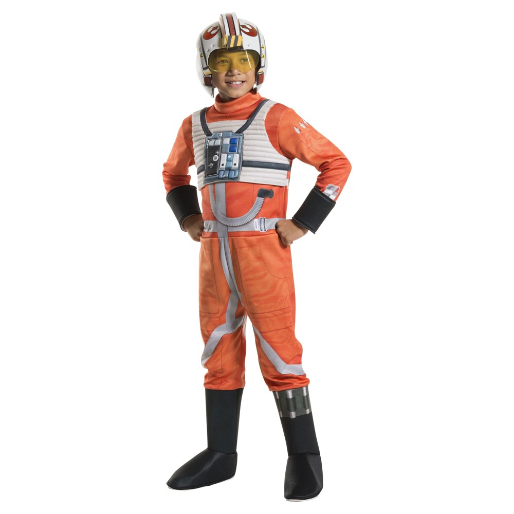 Kids' Star Wars X-Wing Fighter Pilot Deluxe Costume - S (4-6), Boy's, Multicolored