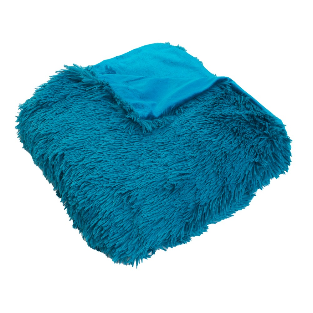 Chubby Faux Throw Blanket Blue - Décor Therapy
