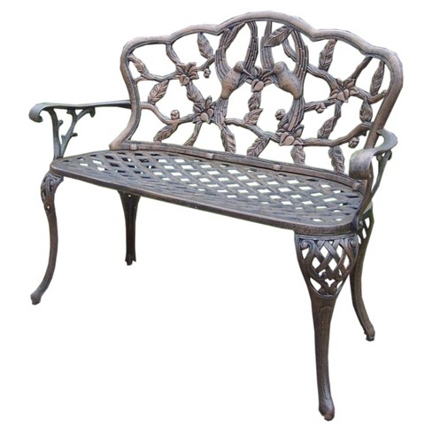 Super Hummingbird Cast Aluminum Loveseat Bench Andrewgaddart Wooden Chair Designs For Living Room Andrewgaddartcom