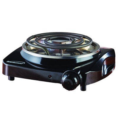 Brentwood Electric 1000 W Single Burner in Black