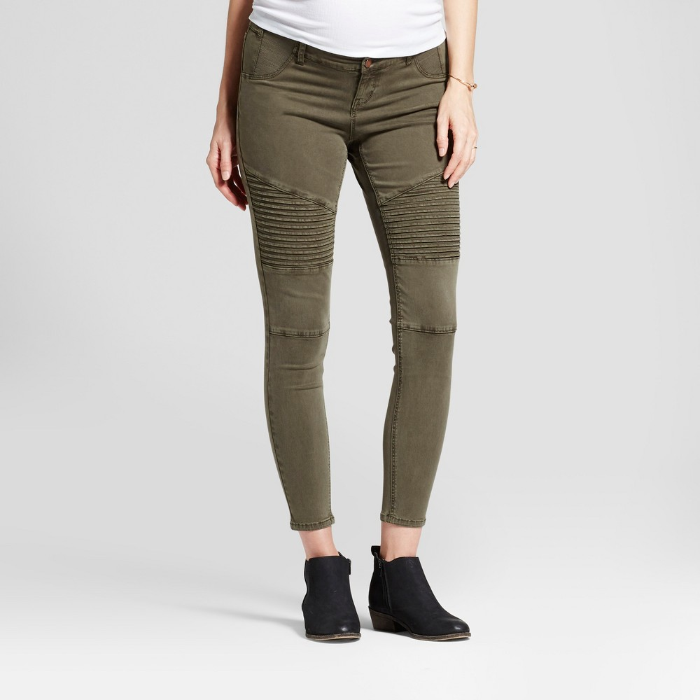 Maternity Inset Panel Utility Jeggings - Isabel Maternity by Ingrid & Isabel Olive 0, Women's, Green