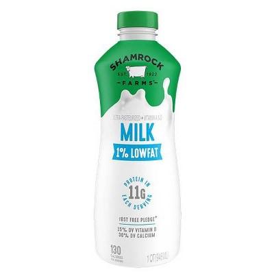 Shamrock Farms 1% Milk - 1qt