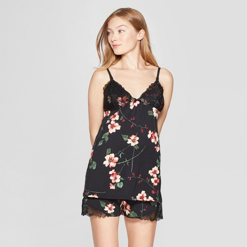 f458895ecb02 Women s Floral Print Nursing Tank and Shorts Pajama Set - Gilligan    O Malley™ Black