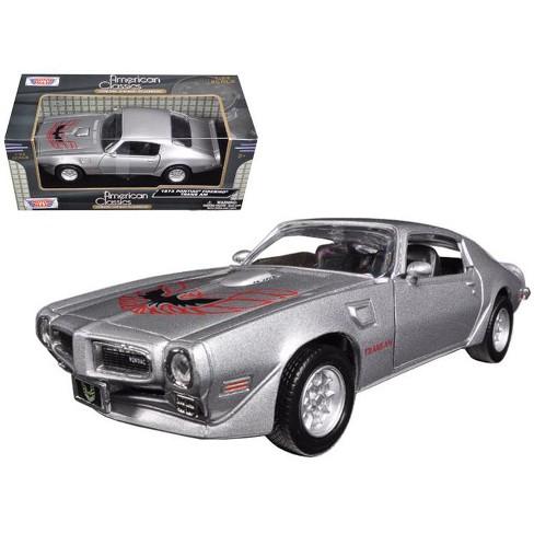 1973 Pontiac Firebird Trans Am Silver 1 24 Diecast Model Car By Motormax