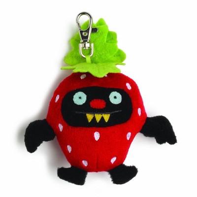 "Enesco Ugly Dolls Fruities 4"" Plush Clip-On: Ninja Batty Strawberry"