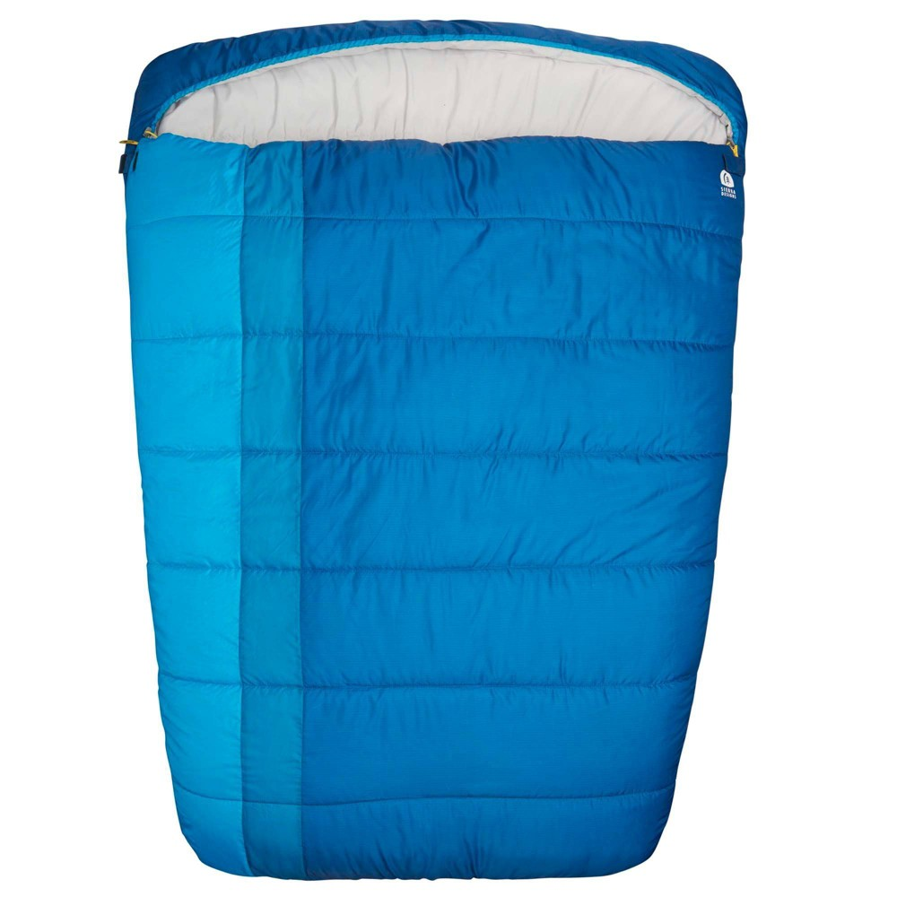 sleeping bag, large sleeping bag, blue sleeping bag