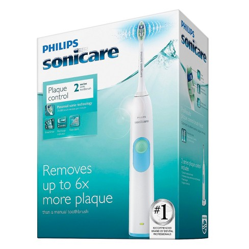 Philips Sonicare 2 Series Plaque Control White Battery Electric Toothbrush  - HX6211/04