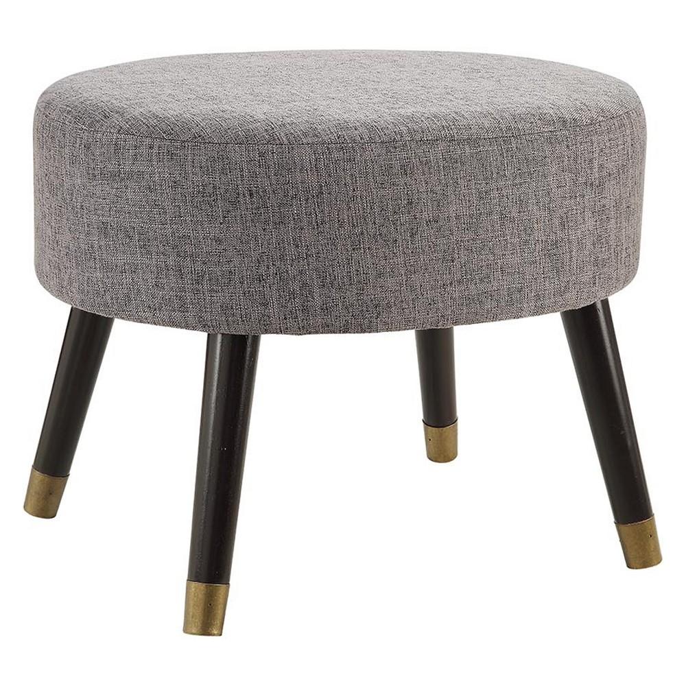 Johar Furniture Designs4Comfort Mid Century Ottoman Stool Gray