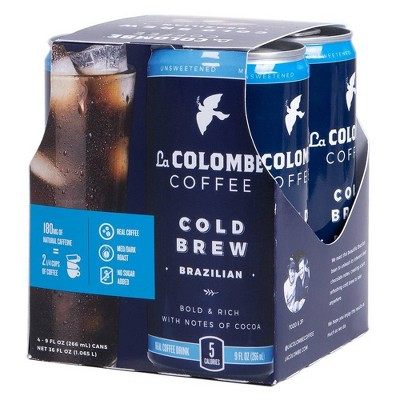 La Colombe Cold Brew Brazilian - 4pk/9 fl oz Can