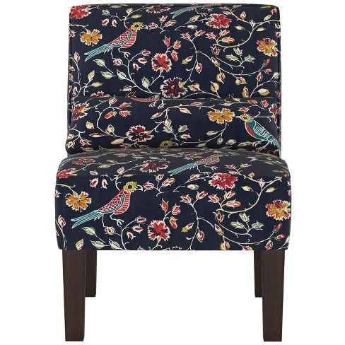 Swell Burke Slipper Chair Navy Bird Print Threshold Gmtry Best Dining Table And Chair Ideas Images Gmtryco