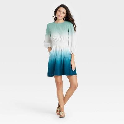 Women's Tie-Dye Long Sleeve Tiered Dress - Universal Thread™