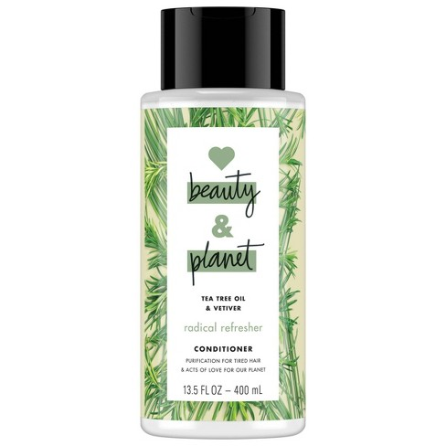 Love Beauty & Planet Tea Tree Oil & Vetiver Radical Refresher Conditioner - 13.5 fl oz - image 1 of 4