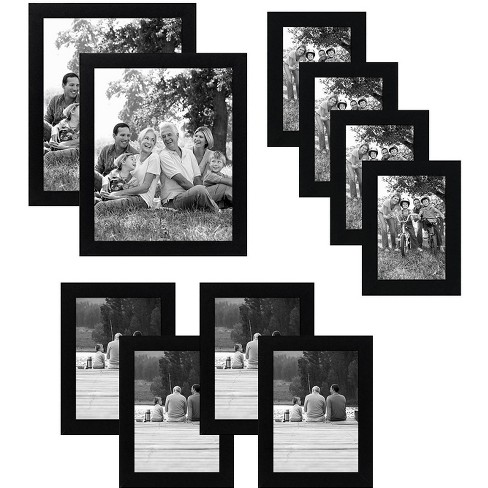 Americanflat Picture Frame - Made of MDF / Shatter Resistant Glass Horizontal and Vertical Formats for Wall - Black or White - Multipacks - image 1 of 4