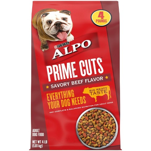 Purina Alpo Prime Cuts Savory Beef Flavor Adult Complete & Balanced Dry Dog Food - image 1 of 4