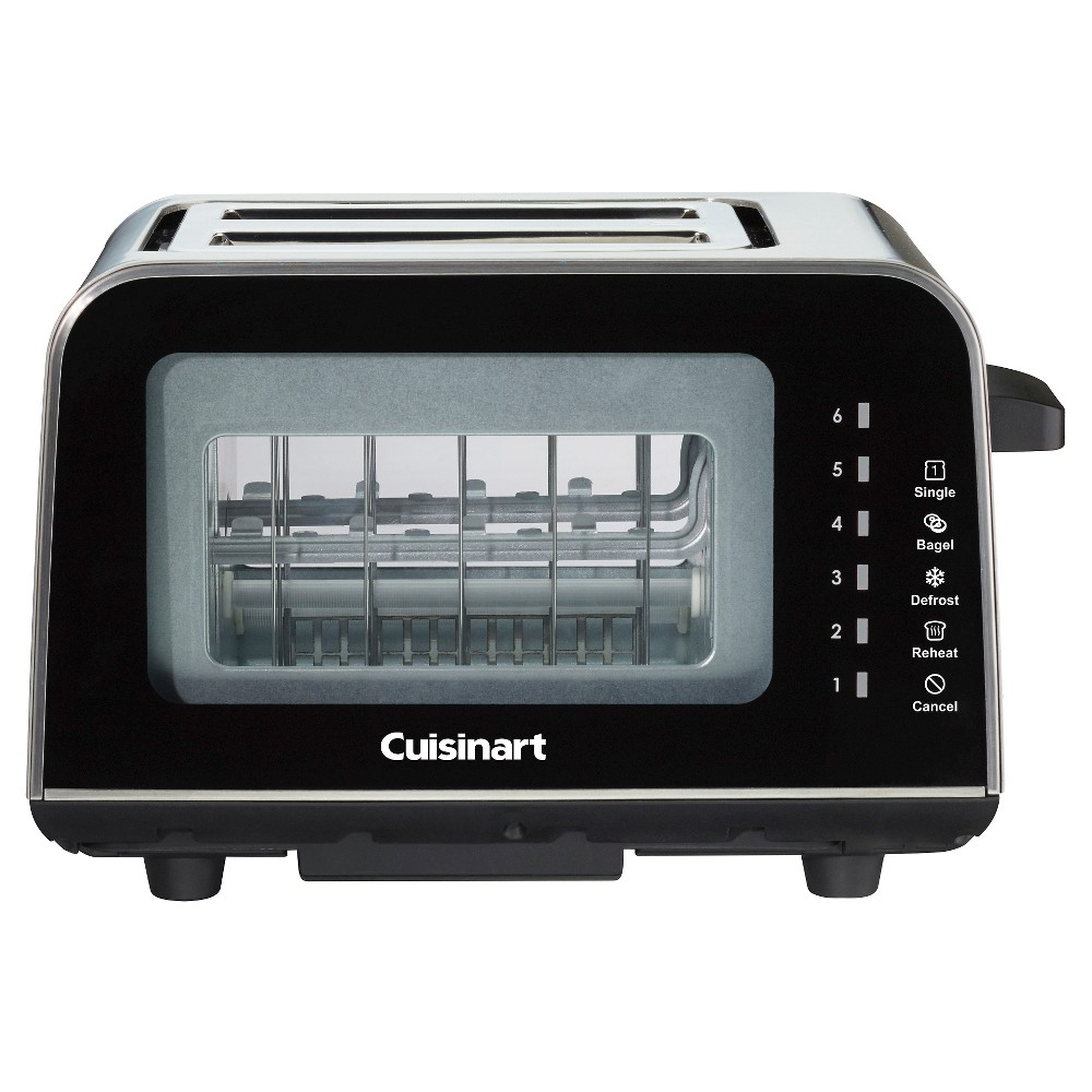 Cuisinart ViewPro 2 Slice Glass Toaster – Black Cpt-3000 50198329