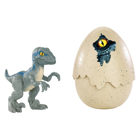 Jurassic World Hatch 'n Play Dinos Velociraptor Blue - image 1 of 7