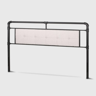 King Cressy Modern Industrial Upholstered Headboard Beige - Christopher Knight Home