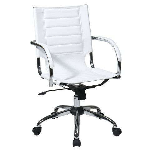 Swell Trinidad Desk Chair White Osp Home Furnishings Interior Design Ideas Clesiryabchikinfo