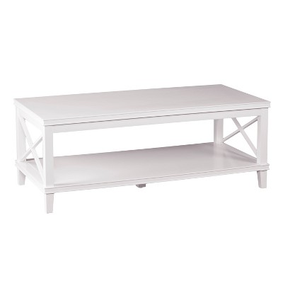 Lavellan Two Tier Wood Coffee Table White - Aiden Lane