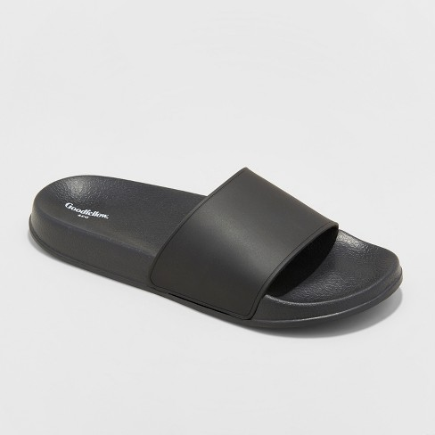 Men's Rickey Slide Sandals - Goodfellow & Co™ Black - image 1 of 3