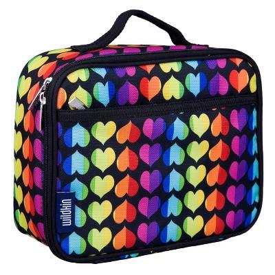 Wildkin Rainbow Hearts Lunch Box