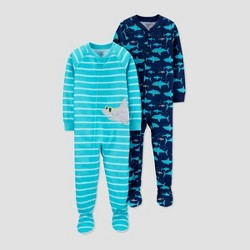 Toddler Boys' 1pc Footed Pajama - Just One You® made by carter's Aqua