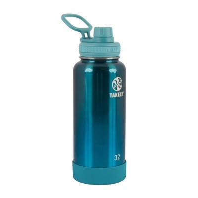 Takeya 32oz Actives Insulated Stainless Steel Water Bottle with Spout Lid - Jade