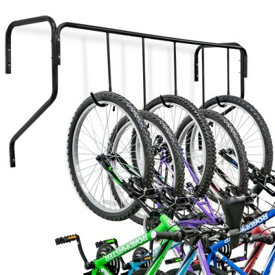 RaxGo 5 Bike Wall Mounted Bicycle Storage Hanger, Garage Bike Rack