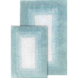 Whitney Ombre Reversible 2 Piece Bath Rug Set Porcelain Blue - Chesapeake Merchandising Inc.