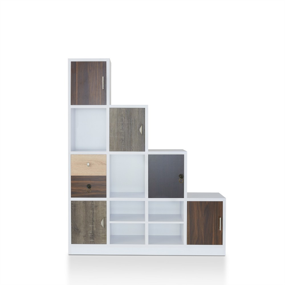 """Image of """"61.5"""""""" Hirsch Contemporary Bookcase White - ioHOMES"""""""