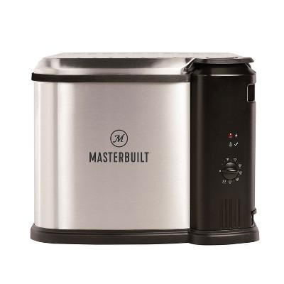 Masterbuilt MB20010118 Electric Kitchen 3-in-1 Deep Fryer Boiler Steamer Cooker Appliance with Basket for Versatile Kitchen Fry Cooking, Silver
