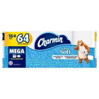 Charmin Ultra Soft Toilet Paper - 16 Mega Rolls