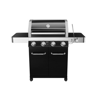 4-Burner Propane Gas Grill with ClearView Lid Black Model 24633 - Monument Grills