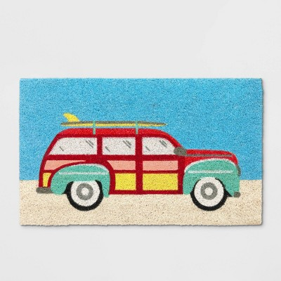 """view 18""""X30"""" Beach Car Tufted Doormat - Sun Squad on target.com. Opens in a new tab."""