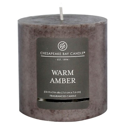 Pillar Candle Warm Amber 3 x3  - Chesapeake Bay Candle®