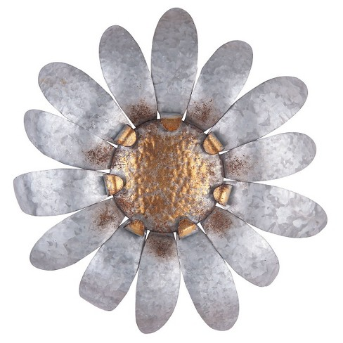 "20"" Ashville Wall Flower - Silver - Foreside Home & Garden - image 1 of 2"