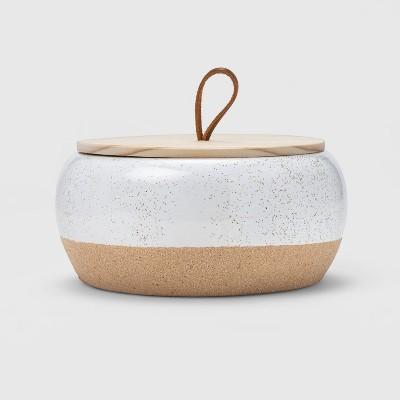 15oz Large Round Ceramic Citronella Candle White - Threshold™