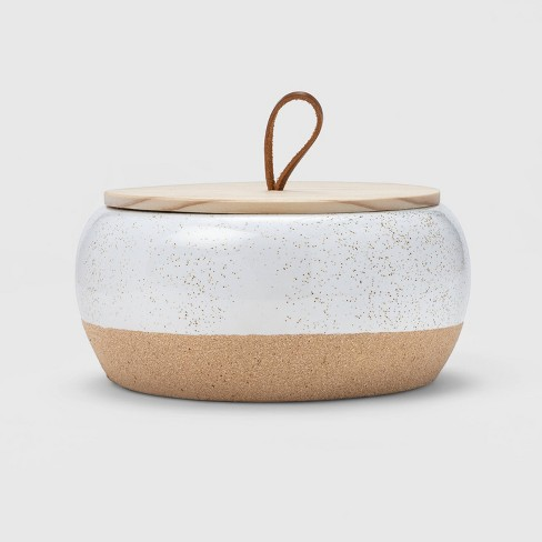 15oz Large Round Ceramic Citronella Candle - Threshold™ - image 1 of 3