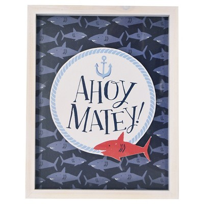 Ahoy Matey Framed Art - Pillowfort™