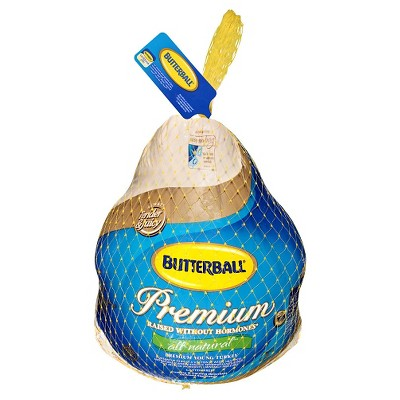 Butterball Premium All Natural Medium Young Turkey - 10-16lbs - priced per lb