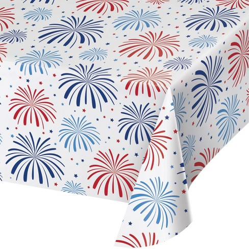 Fireworks Plastic Tablecloth - image 1 of 1