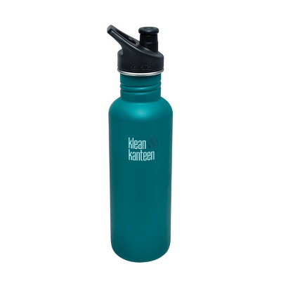 Klean Kanteen 27oz Classic Stainless Steel Water Bottle with Sport Cap - Blue Jay