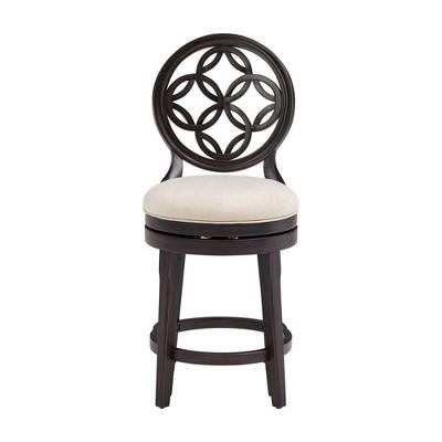 Savona Wood Swivel Counter Height Barstool Aged Black - Hillsdale Furniture