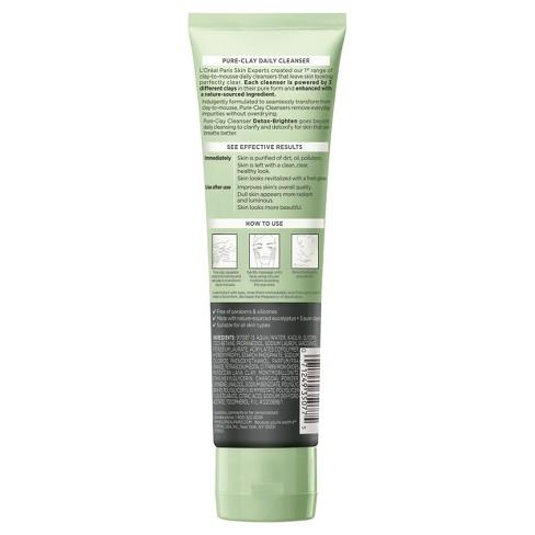 4b4d4b4758e L Oreal Paris Pure Clay Cleanser - Detoxify   Brighten - 4.4oz   Target